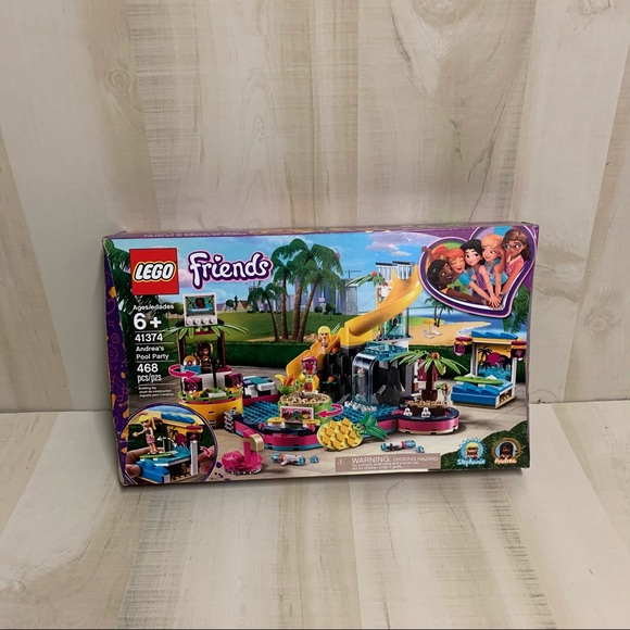 NWT Lego Friends Andrea's Pool Party 41374